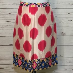 Maeve Anthropologie Silk Pencil Skirt